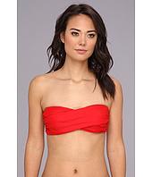 Shoshanna - Solid Twist Bandeau Bikini Top