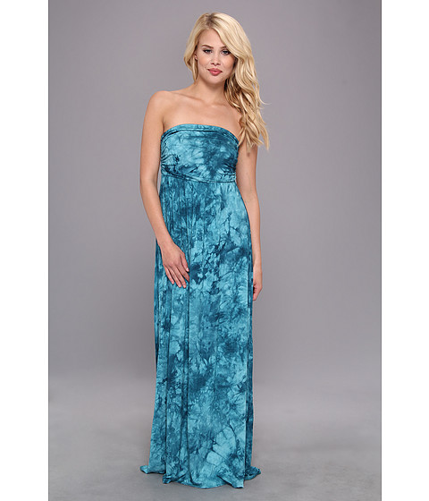 Shop Gabriella Rocha online and buy Gabriella Rocha Hally Dress Dark Teal Tye Dye Online - Gabriella Rocha - Hally Dress (Dark Teal Tye Dye) - Apparel: A luxuriously lavish Gabriella Rocha look. ; Sleeveless, maxi dress silhouette. ; Wrap-styled bodice. ; Shirred empire waist. ; Slip-on and unlined. ; Tube-top neckline. ; 96% rayon, 4% spandex. ; Dry clean only. ; Made in the U.S.A. and imported. Measurements: ; Length: 53 in ; Product measurements were taken using size SM. Please note that measurements may vary by size.