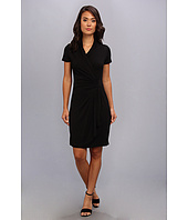 Karen Kane - Short Sleeve Cascade Wrap Dress