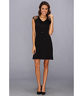 Calvin Klein - Belted Rayin With Lace Dress CD4N12Q8