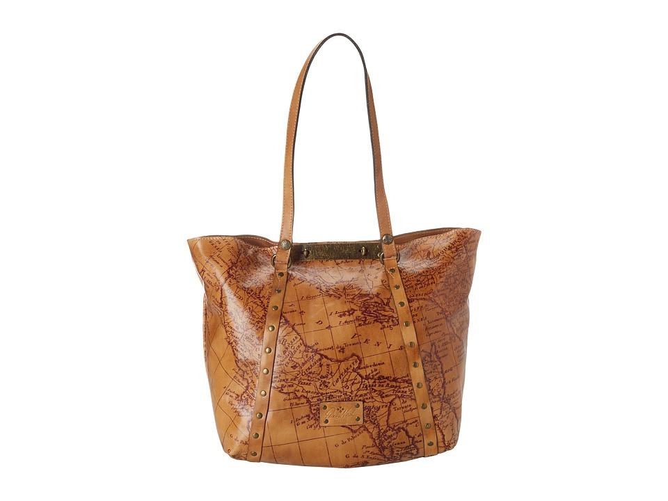 Patricia Nash - Map Print Benvenuto (Rust) Tote Handbags