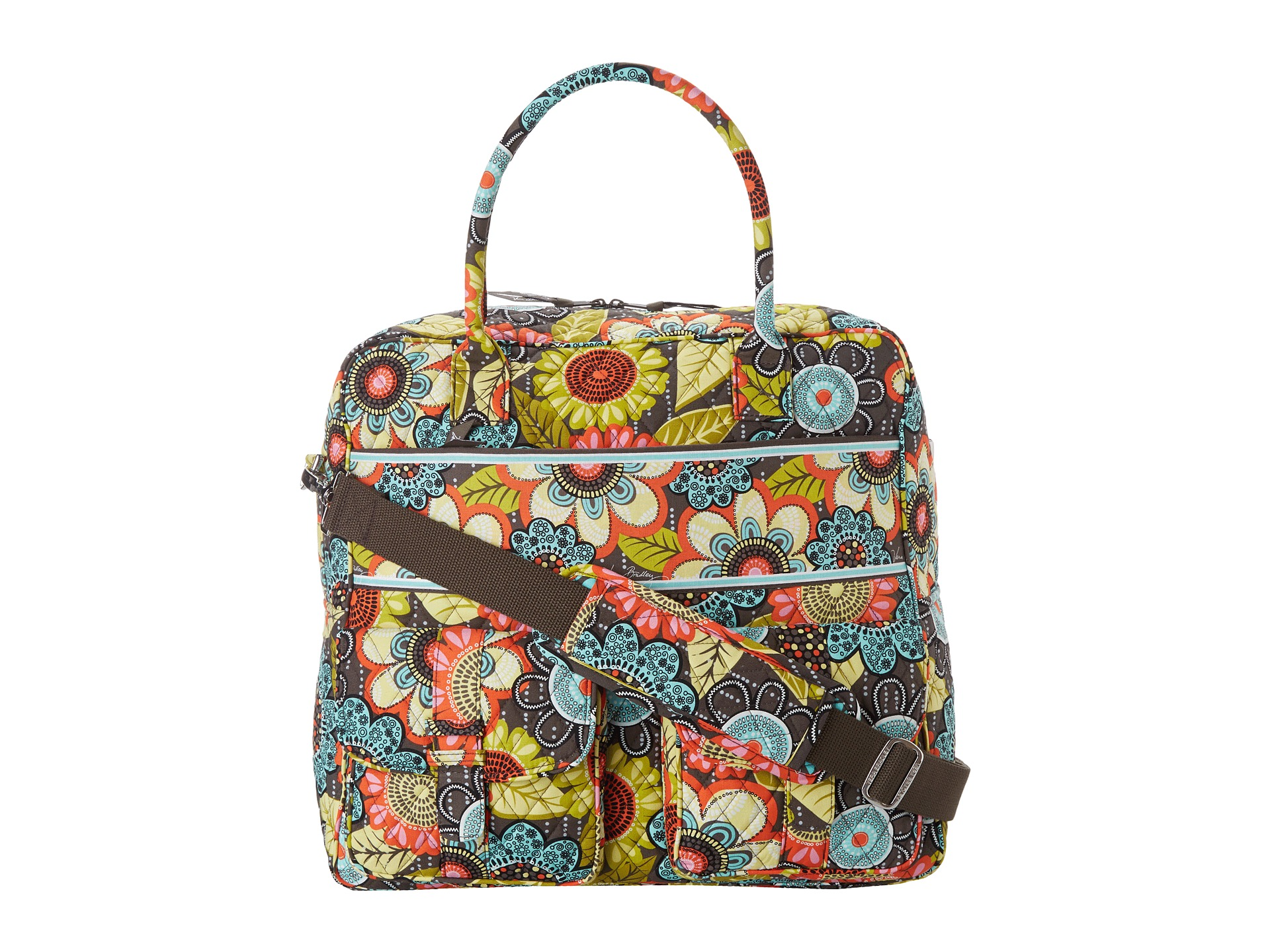 Vera bradley luggage grand cargo bag flower shower for Vera bradley bathroom bag