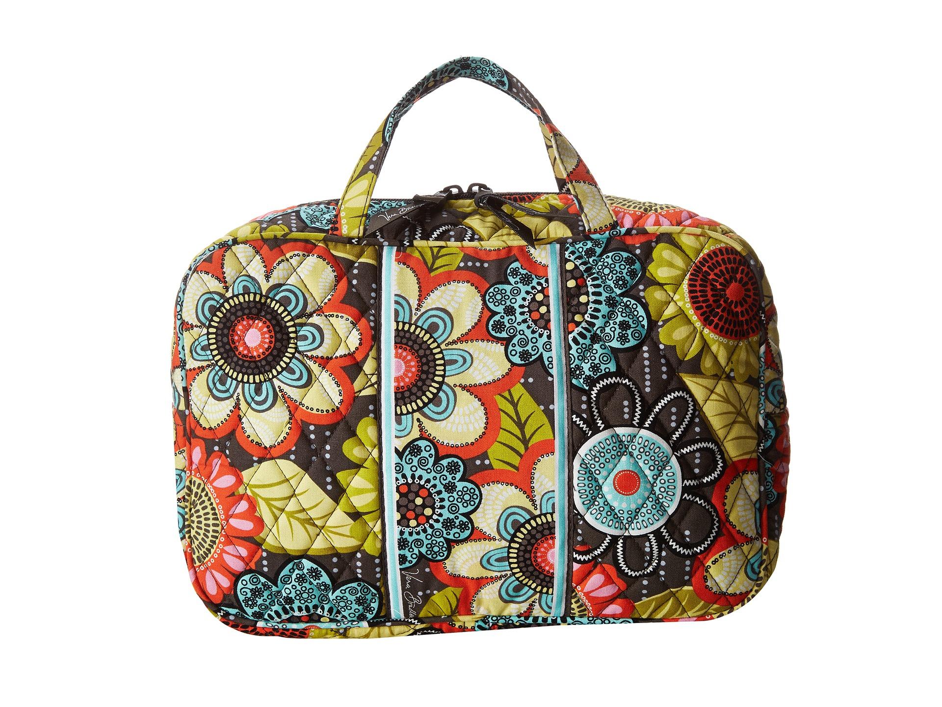 vera bradley luggage grand cosmetic flower shower