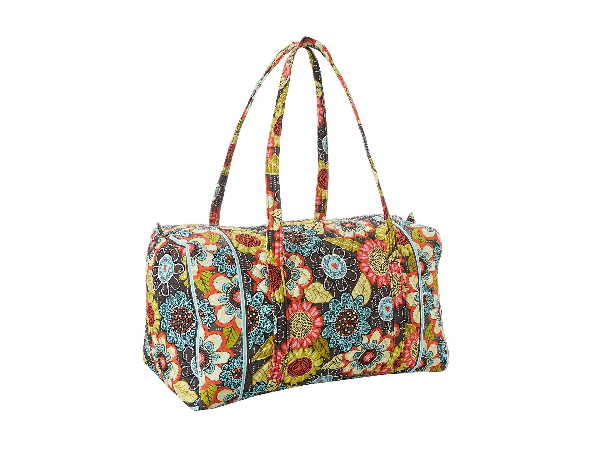 Vera bradley luggage large duffel flower shower zappos for Vera bradley bathroom bag