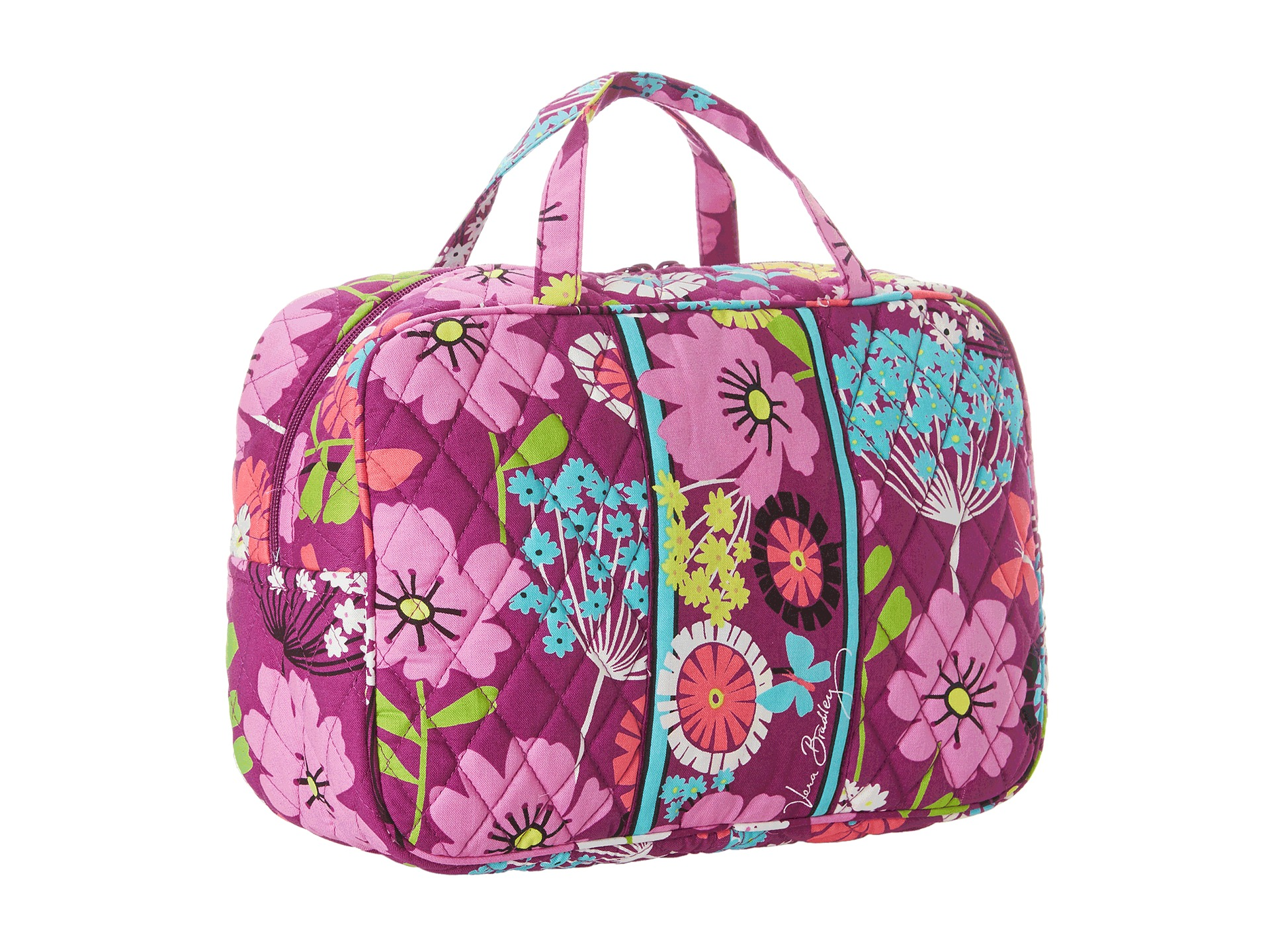 vera bradley luggage grand cosmetic flutterby shipped