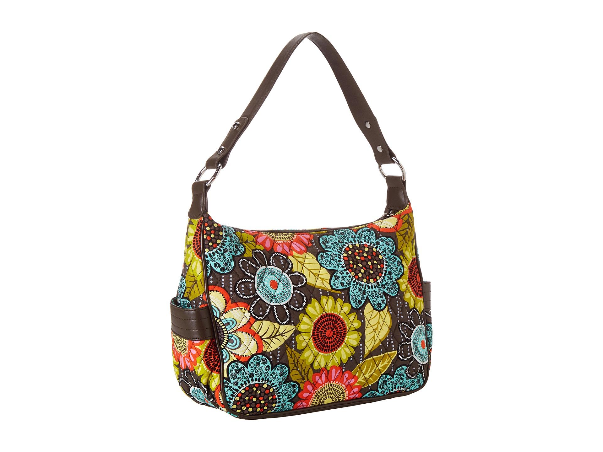 Vera bradley city shoulder bag flower shower with brown for Vera bradley bathroom bag