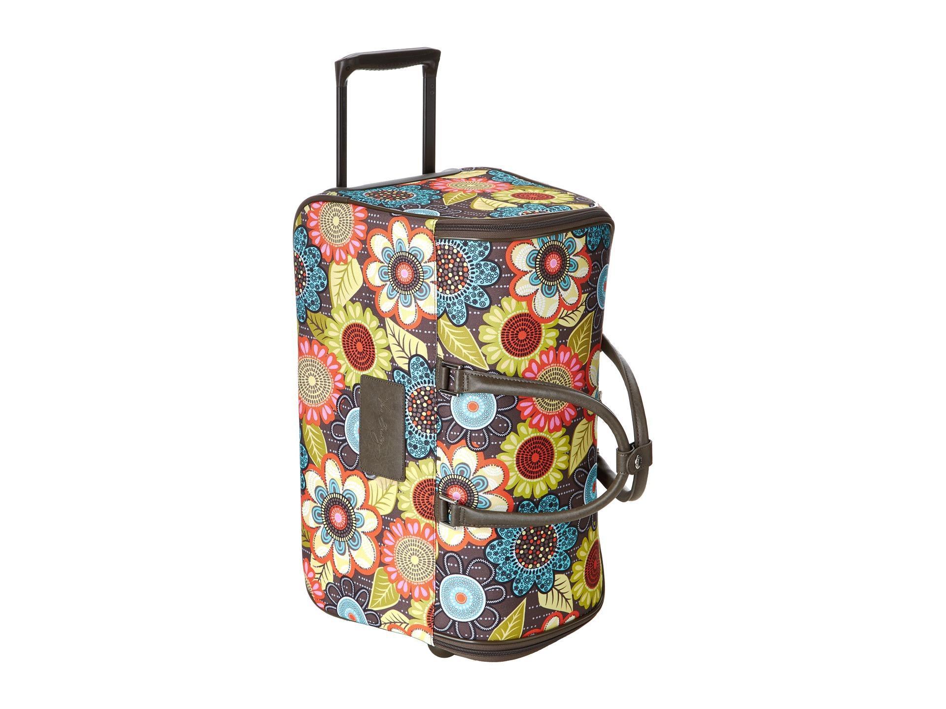 Vera bradley luggage 22 rolling duffel flower shower for Vera bradley bathroom bag