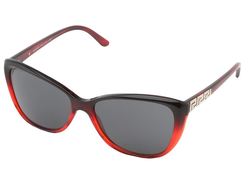 Versace VE4264B Dark Red/Grey Plastic Frame Fashion Sunglasses