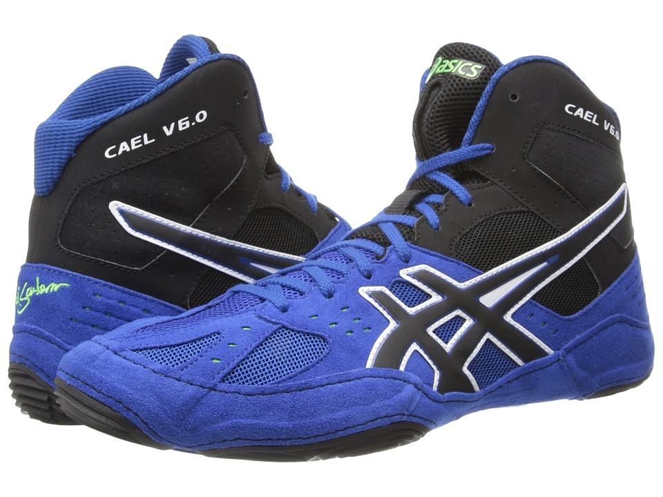 ASICS - Cael V6.0 (Electric Blue/Black/Lime) Mens Wrestling Shoes
