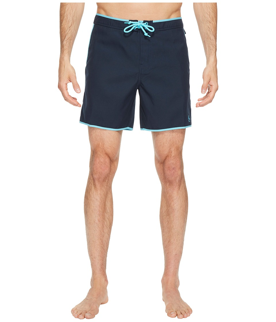 1960s Style Men's Clothing, 70s Men's Fashion Original Penguin - Earl Volley Swim Short Total Eclipse Mens Swimwear $65.00 AT vintagedancer.com