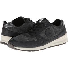 ECCO CS14 Casual Sneaker (Black/Black/Buffed Silver) Women