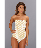 Shoshanna - Palm Desert Triangles Beaded One-Piece