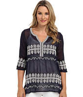 Karen Kane - Split Neck Embroidered Top