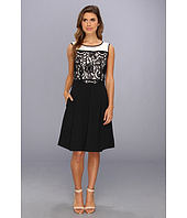 Ellen Tracy  Sleeveless Lace Top Fit And Flare  image