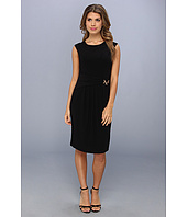 Ellen Tracy  Cap Sleeved Crepe With Draped Hardware  image