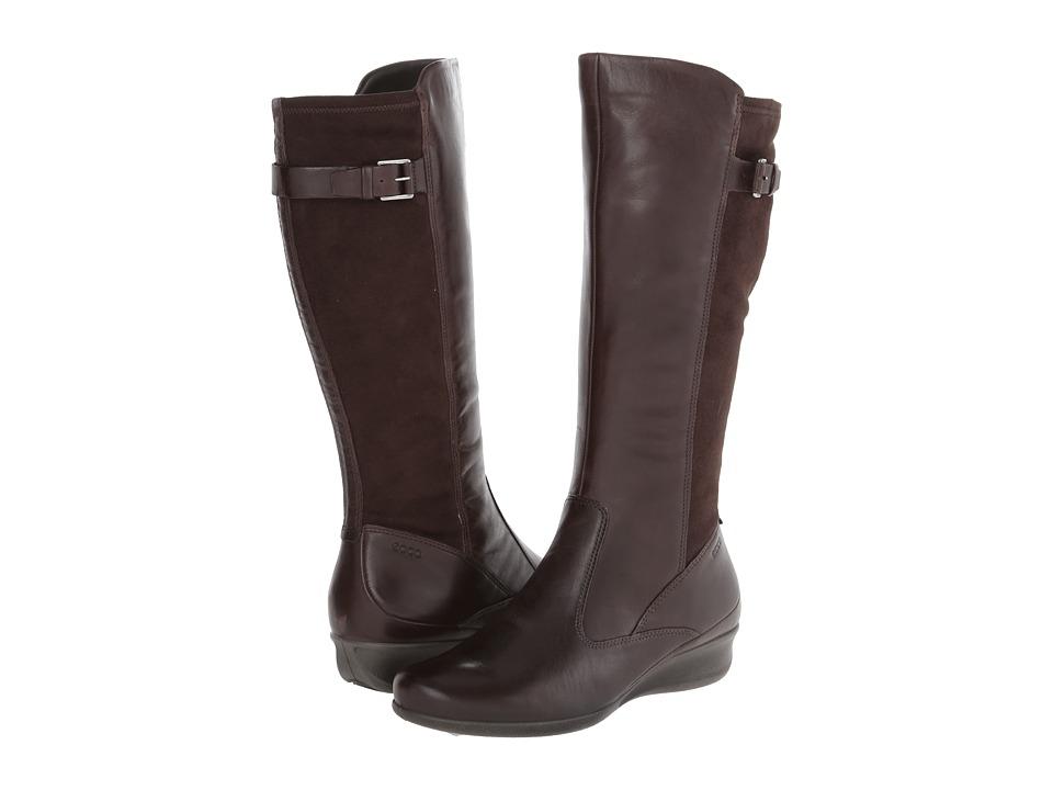 ECCO - Abelone Tall Boot (Coffee/Coffee) Women's  Boots