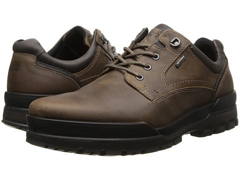 ECCO - Track 6 GTX Plain Toe Tie (Navajo Brown/Dark Clay) - Footwear