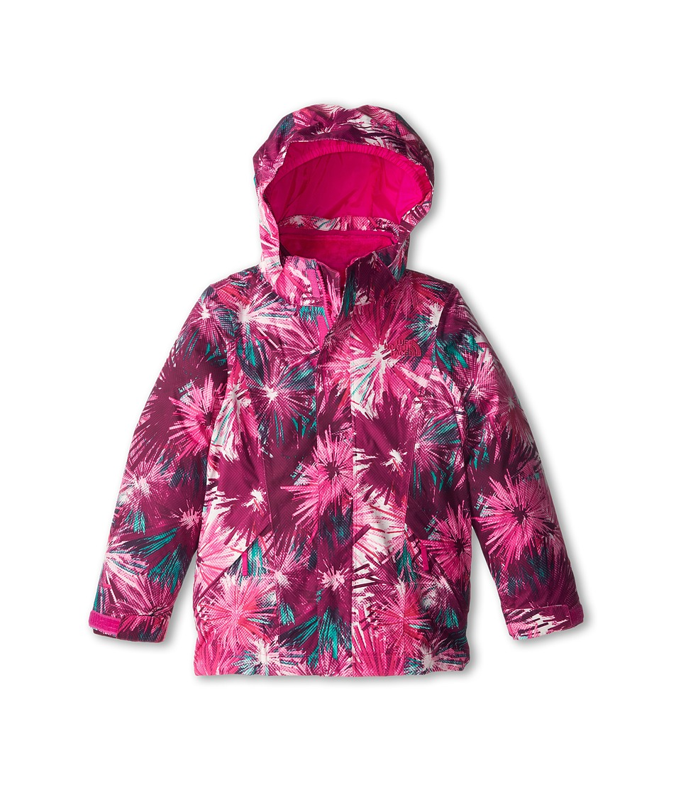 The North Face Kids Reversible Mila Triclimate (Little Kids/Big Kids) (Azalea Pink Multi) Girl's Clothing