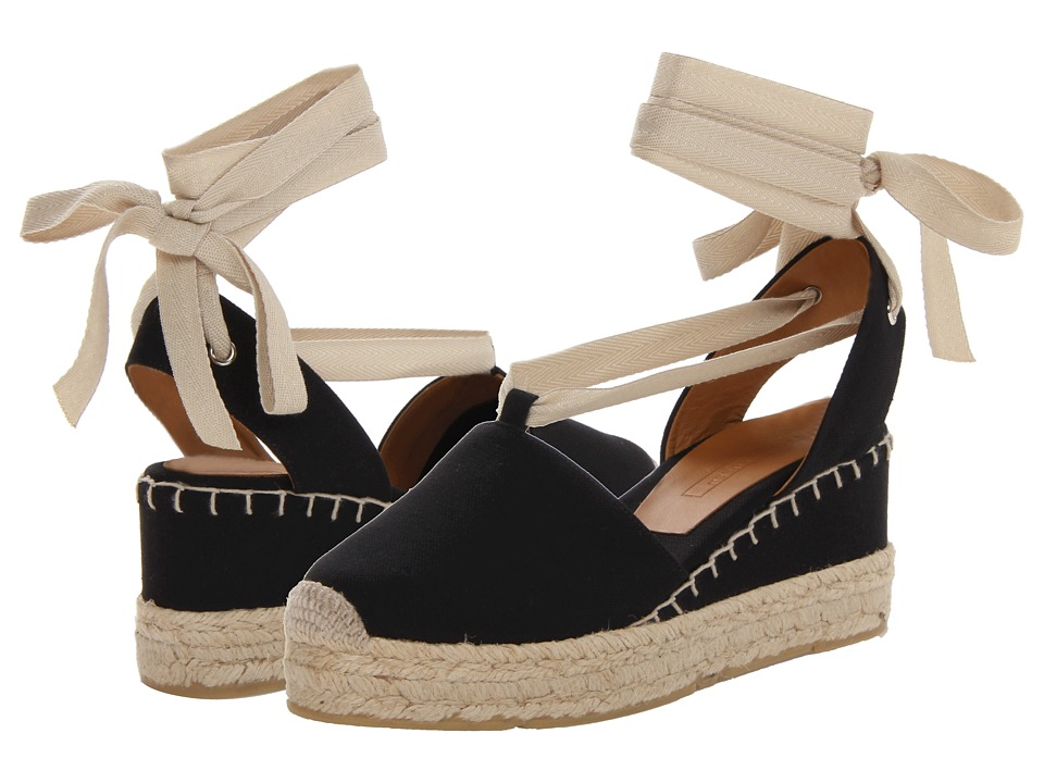 Ralph Lauren Collection Uma Espadrille Black Womens Shoes