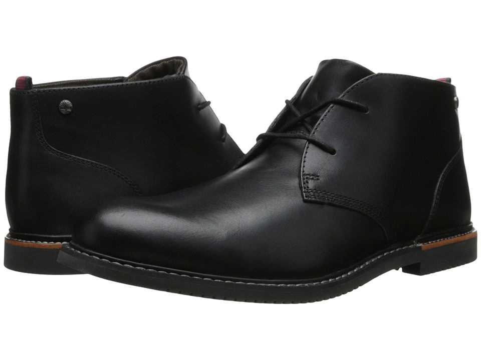 Timberland - Earthkeepers(r) Brook Park Chukka (Black Smooth) Mens Lace-up Boots