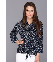 TWO by Vince Camuto - Petite Floral Tie Front Shirt