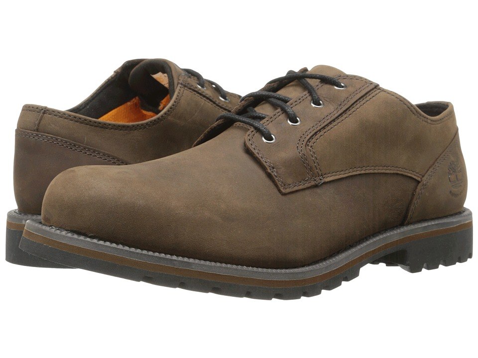 Timberland - Earthkeepers Hartwick Plain Toe Oxford Waterproof (Dark Brown Oiled) Men