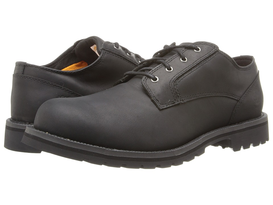 Timberland - Earthkeepers Hartwick Plain Toe Oxford Waterproof (Black Smooth) Men