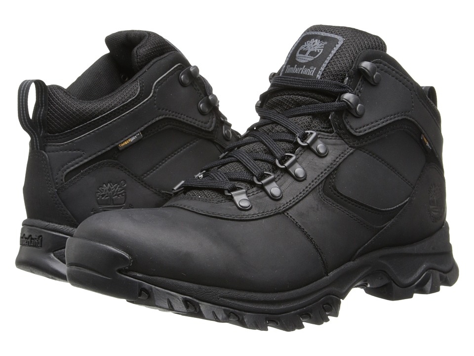 Timberland - Earthkeepers(r) Mt. Maddsen Mid Waterproof (Black) Mens Lace-up Boots