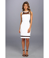 Laundry by Shelli Segal - Stretch Crepe And Mesh Dress