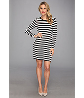 MICHAEL Michael Kors - Striped L/S Crew Dress