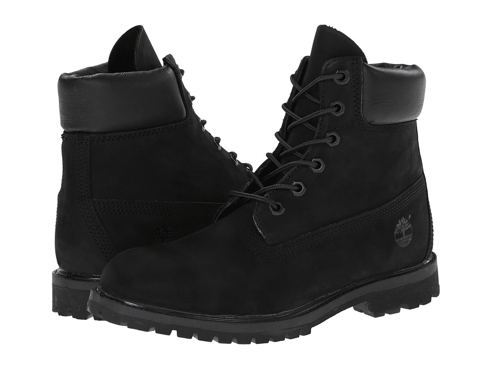 Timberland - 6 Premium Boot (Black Nubuck) Women