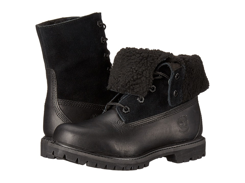 Timberland - Authentics Teddy Fleece Fold-Down (Black/Black) Women