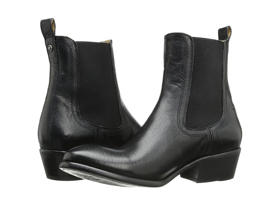 Frye - Carson Chelsea Black Washed Antique Pull Up Womens Boots $298.00 AT vintagedancer.com