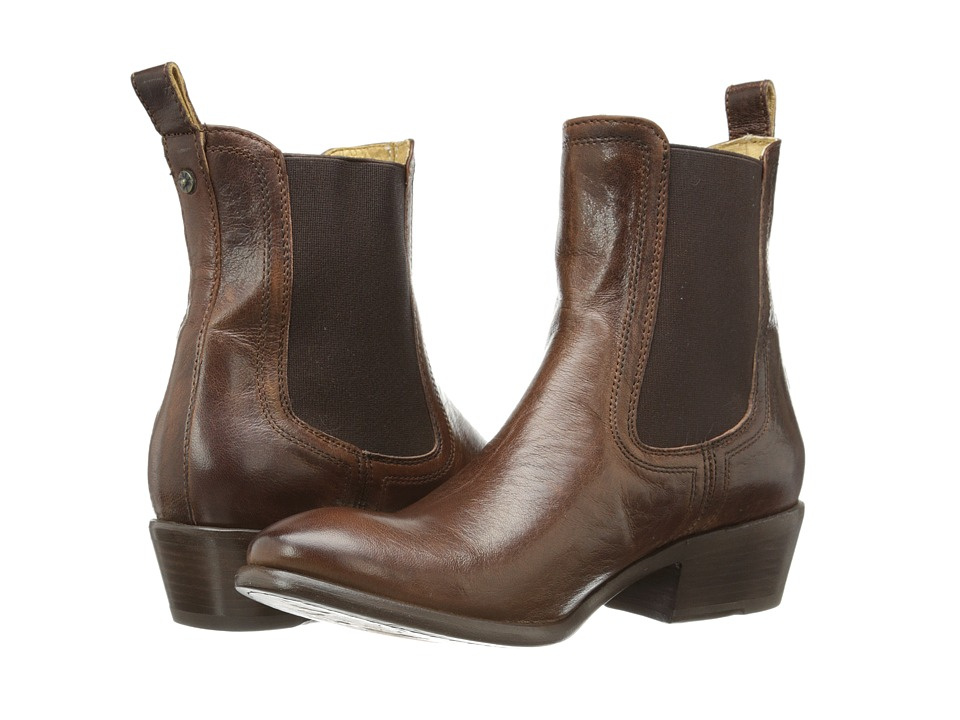 Frye - Carson Chelsea Brown Washed Antique Pull Up Womens Boots $298.00 AT vintagedancer.com