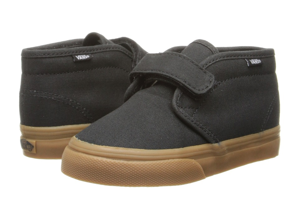 Vans Kids Chukka V (Toddler) (Black/Gum) Boys Shoes