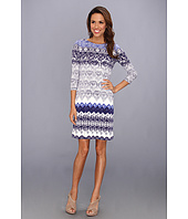 Donna Morgan - Lace-Print Matte Jersey w/ Sleeves