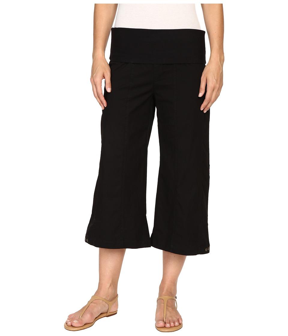XCVI Indria Wide Leg Crop (Black) Women's Casual Pants
