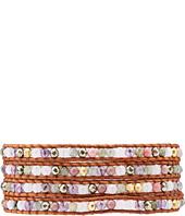 Chan Luu - 32' Pink Mix/Natural Brown Wrap Bracelet