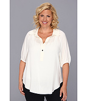 Karen Kane Plus - Plus Size Blouson Sleeve Top w/ Placket