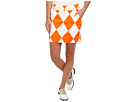 Loudmouth Golf Orange and White Mega Skort