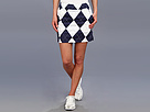 Loudmouth Golf Navy and White Argyle Skort