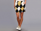 Loudmouth Golf Black and Tan Skort