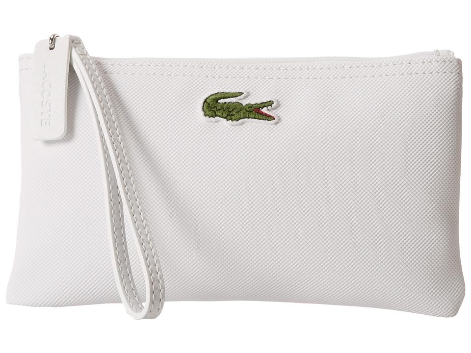 Lacoste - L.12.12 Concept Clutch Bag (White) Clutch Handbags