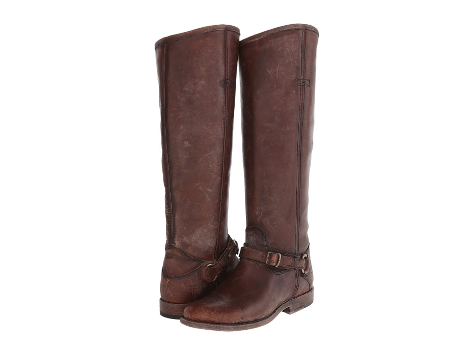 Frye Phillip Ring Tall Whiskey Polished Stonewash Womens Pull on Boots