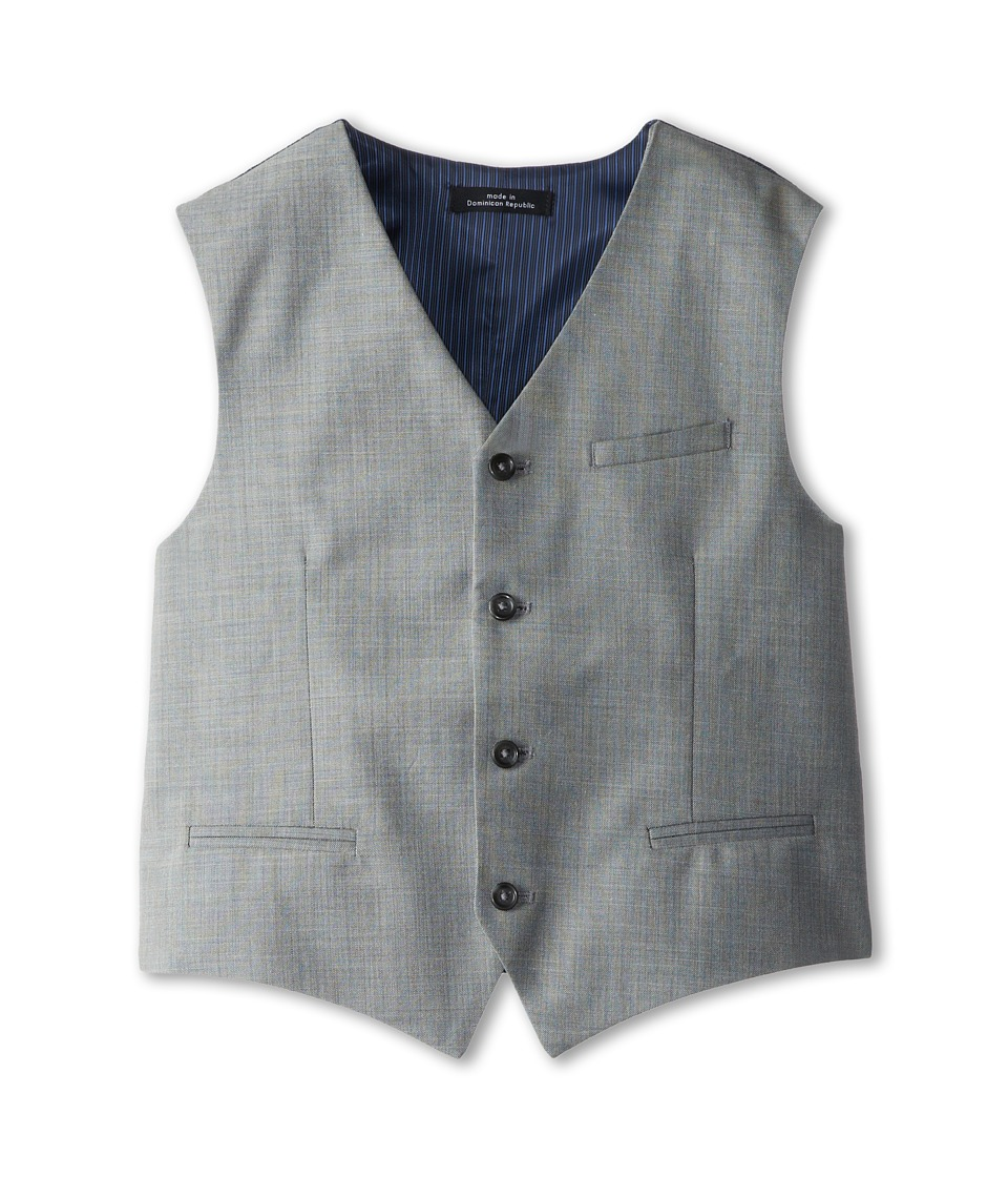 Calvin Klein Kids - Sharkskin w/ Deco Vest (Big Kids) (Light Grey) Boys Vest