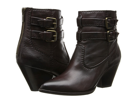 Shop Frye online and buy Frye Reina Buckle Dark Brown Soft Antique Footwear - Zappos.com is proud to offer the Frye - Reina Buckle (Dark Brown Soft Antique) - Footwear: Enjoy the classic style and rider-inspired design of the Reina Buckle boot from Frye. ; Soft antique leather upper. ; Leather strap and buckle detail offers a rider-inspired look. ; Leather lining for a more comfortable next-to-skin feel. ; Cushioned leather footbed for all-day comfort. ; Durable rubber outsole provides long-lasting wear and traction. ; Imported. Measurements: ; Heel Height: 2 1 4 in ; Weight: 13 oz ; Circumference: 9 in ; Shaft: 6 in ; Product measurements were taken using size 6, width B - Medium. Please note that measurements may vary by size.