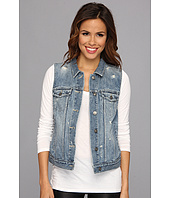 TWO by Vince Camuto - Destroyed Denim Jean Vest