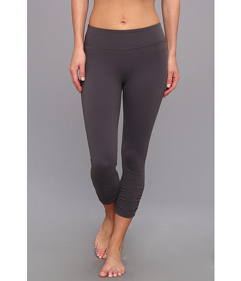 Beyond Yoga - Essential Gathered Legging (Steel) - Apparel