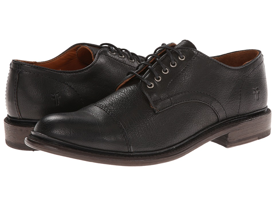 Frye - Jack Oxford (Black Buffalo Leather) Men