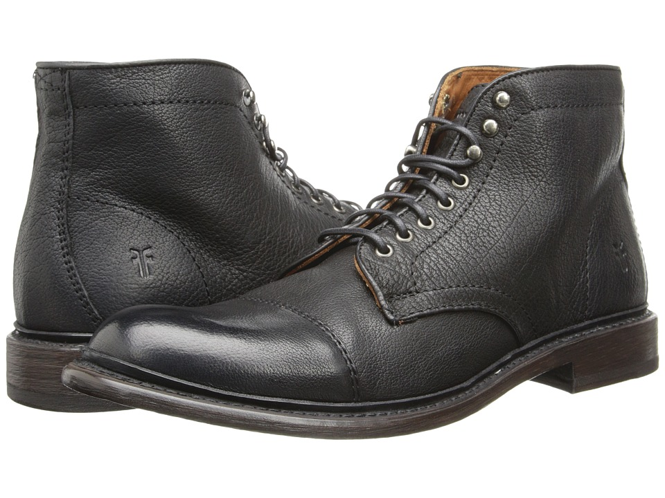 Frye - Jack Lace Up (Black Buffalo Leather) Men